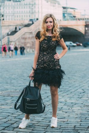 Коктейльные платья в прокат Москва Exclusive Black Cocktail Dress