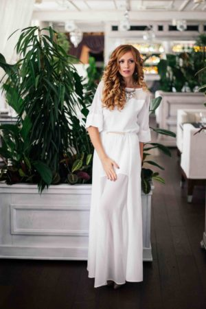 White Modern Evening Dress