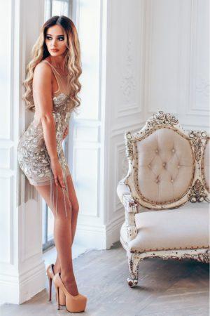 Коктейльные платья в прокат Москва Exclusive Silver Cocktail Dress