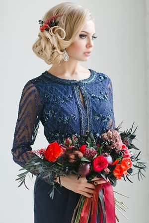 Dark Blue Classic Elegance Dress