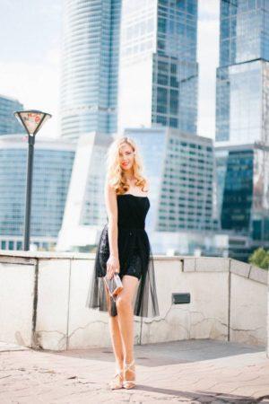 Коктейльные платья прокат Москва Bcbgmaxazria Black Cocktail Dress