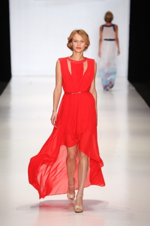 Ripple Red Evening Dress
