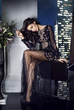 Black Celebrity Evening Dress