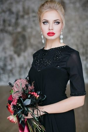 Classic Black Evening Dress Image