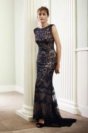 Black Simple Evening Dress