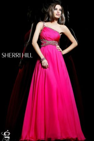 Jovani Fuchsia Pink Evening Dress