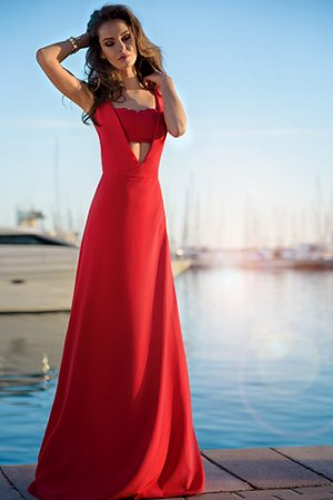 Modern Red Evening Dress