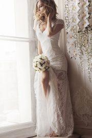 White Lace Romantic Evening Dress