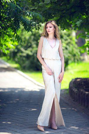 Gold New Evening Dress