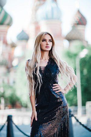 Черное вечернее платье кружево пайетки FreshDress прокат