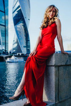 Original Red Evening Dress
