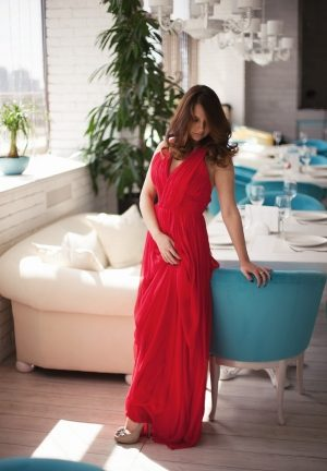 Red Flame Evening Dress