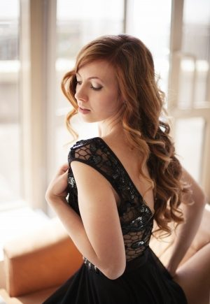 Black Lace Top Evening Dress New