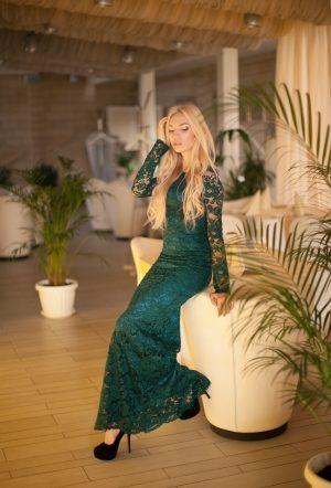 Bright Green Dolce Gabbana Lace Dress