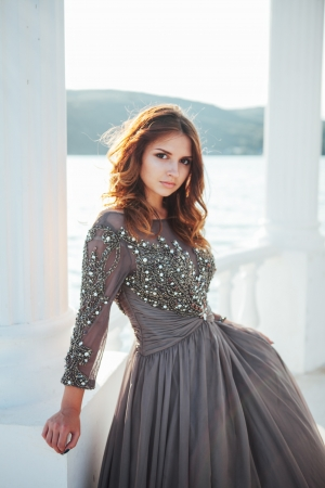 Silver Grey Evening Dress