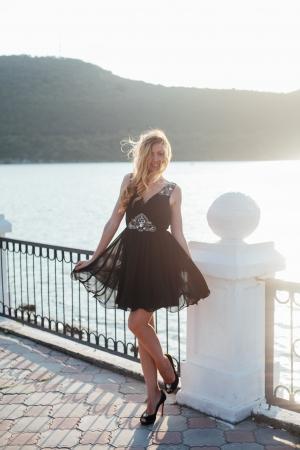 New Black Cocktail Mini Dress