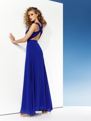 Bright Blue Evening Dress