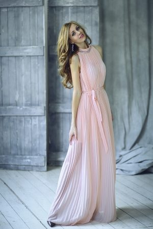 Pink Beautiful Evening Dress