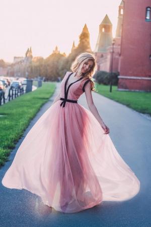 New Purple Evening Dress