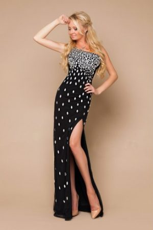 Black Charm Evening Dress