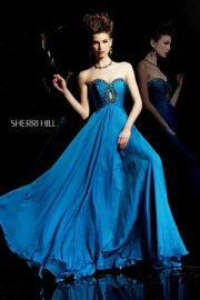 Blue Celebrity Evening Dress