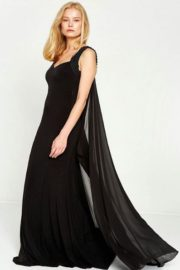 Classic Severe Long Dress