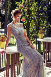 Jovani Silver Gold Evening Dress