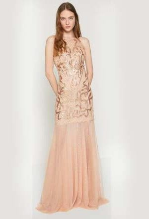 Skin Color Evening Dress