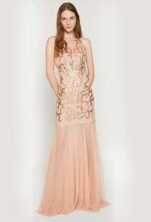 Skin Color Evening Dress