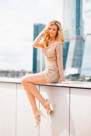 Golden Cocktail Dress
