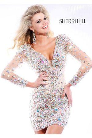 Коктейльные платья в прокат Москва Sherri Hill Pink Cocktail Dress