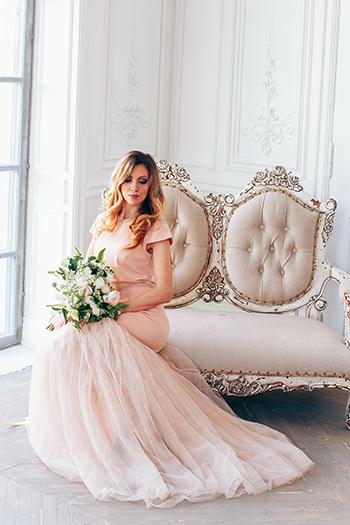 Вечернее платье нежно розовое прокат FreshDress