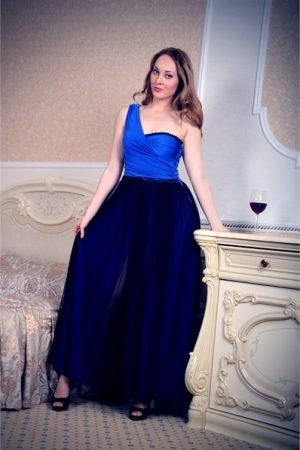 Blue Black Evening Dress