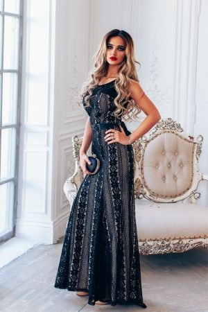Black Classic Elegance Evening Dress
