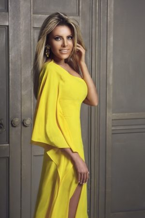 Yellow Modern Evening Dress