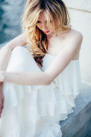 White Wave Romantic Evening Dress