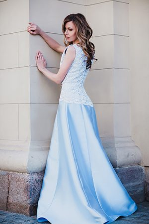Blue Ball Classic Evening Dress
