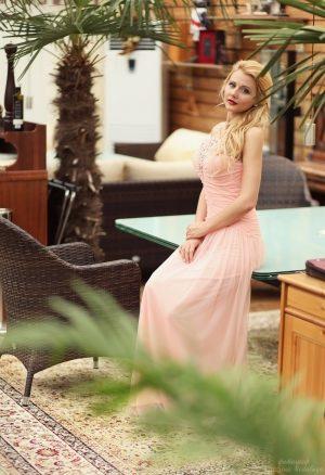 Pink Cloud Evening Dress