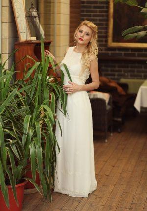 White Graceful Evening Dress