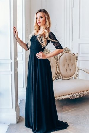 New Black Classic Elegance Evening Dress