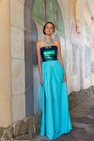 Blue Original Evening Dress