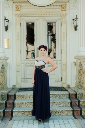 Purple Heart Evening Dress