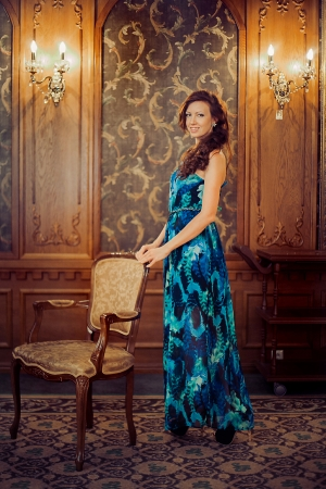 Original Blue Evening Dress