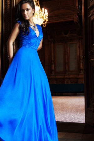Blue Sky Long Evening Dress